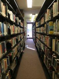 półki z książkami, bibiloteka